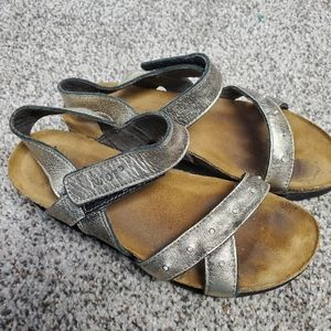 Naot rhinestone metallic sandals